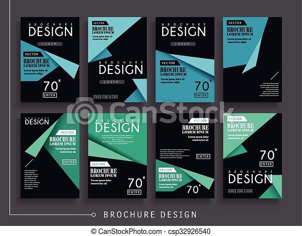 folheto, atraente, modelo - csp32926540