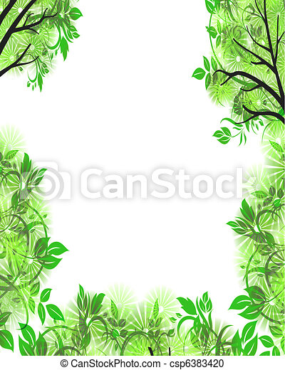 foliage frame with copyspace - csp6383420