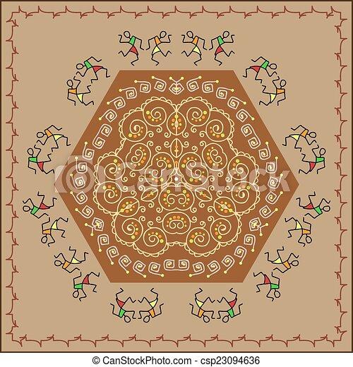 Folk Design Dancers - csp23094636