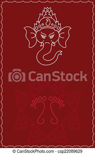 Folk Design Ganesha - csp22089629