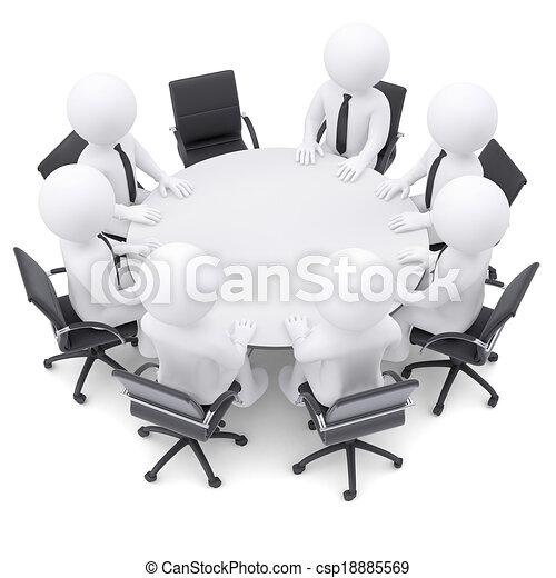 folk, en, stol, tabell., runda, tom, 3