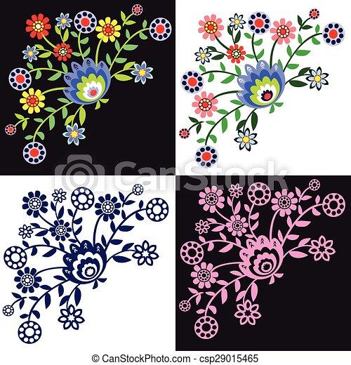 folk pattern - csp29015465
