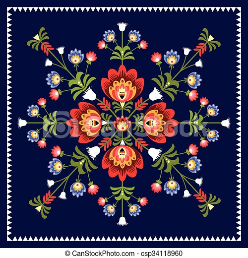 folk pattern - csp34118960
