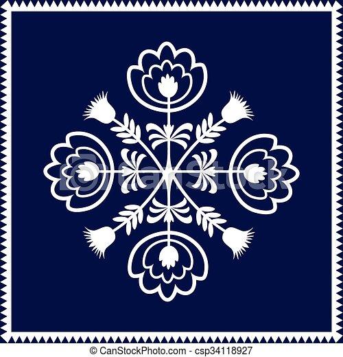 folk pattern - csp34118927