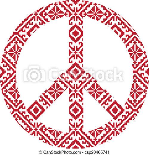 Folk pattern  pacific - csp20465741