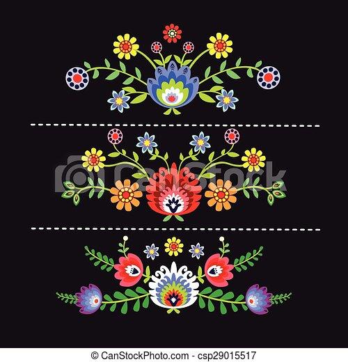 folk pattern - csp29015517