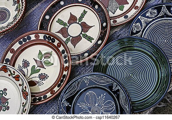 Folk pottery 3 - csp11640267