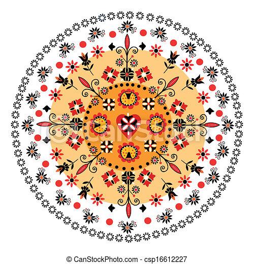 Folk Rosette - csp16612227