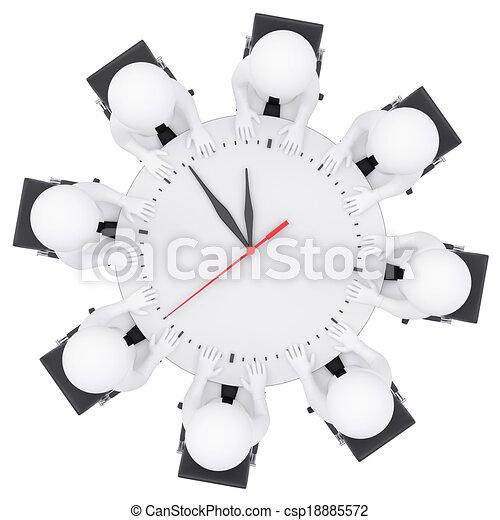 folk sitta, bord, vit, runda, 3