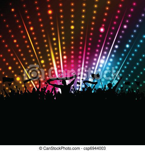 folla, discoteca, fondo - csp6944003