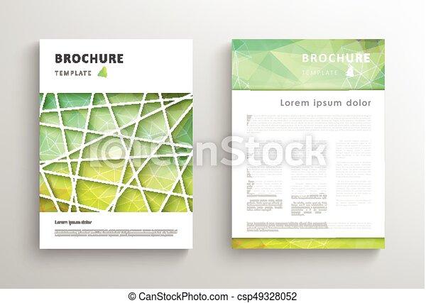 La plantilla de diseño de folletos abstractos - csp49328052