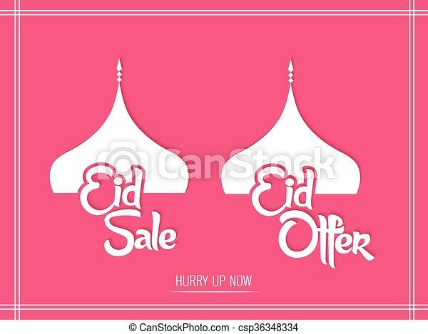 El folleto del Eid - csp36348334