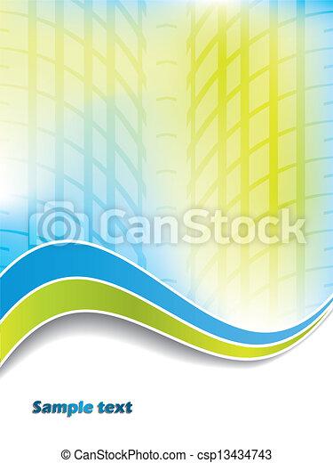 Brochure con diseño de huellas de neumáticos - csp13434743