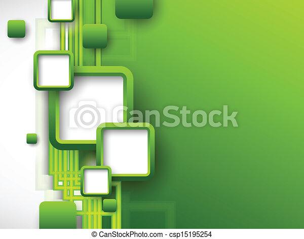 Un folleto verde abstracto - csp15195254
