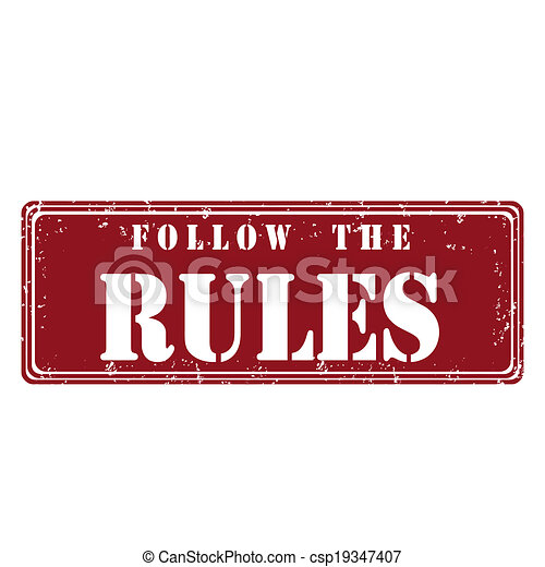 Follow the rules - csp19347407