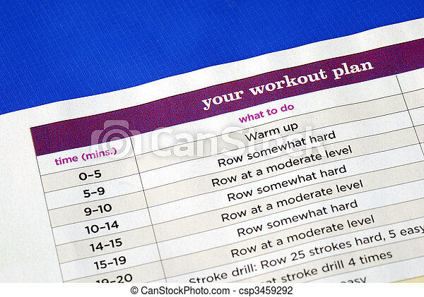 Follow the work out plan to keep fit - csp3459292