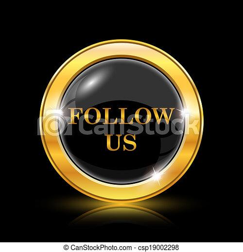 Follow us icon - csp19002298