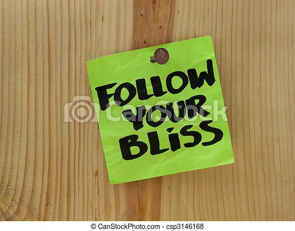 follow your bliss - spiritual reminder - csp3146168