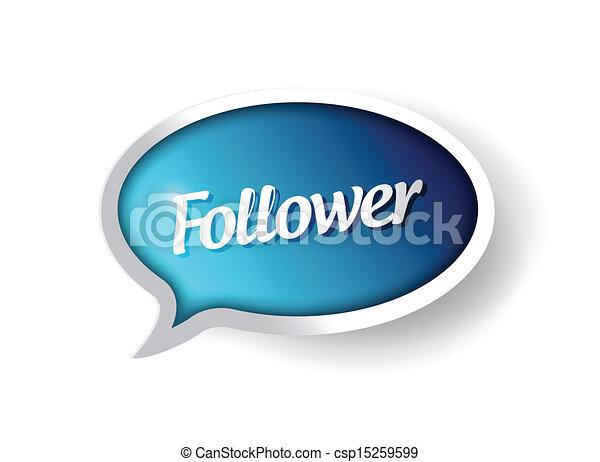 follower message communication bubble - csp15259599