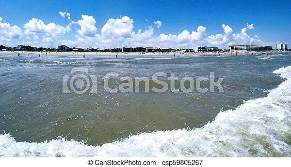 folly beach charleston south carolina on atlantic ocean - csp59805267