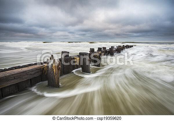 Folly Beach South Carolina Charleston SC Seascape - csp19359620