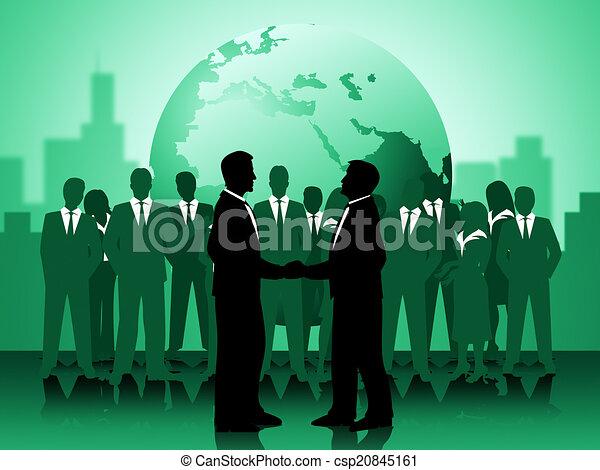 fonctionnement, moyens, globe, association, ensemble, la terre - csp20845161