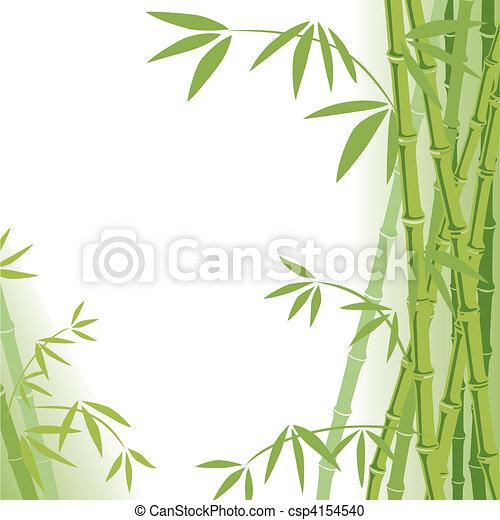 fond, bambou - csp4154540