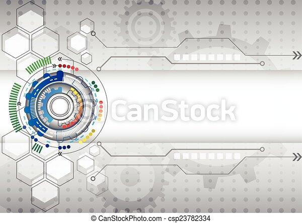 fond, business, résumé, élevé, circuit ordinateur, technologie, futuriste - csp23782334