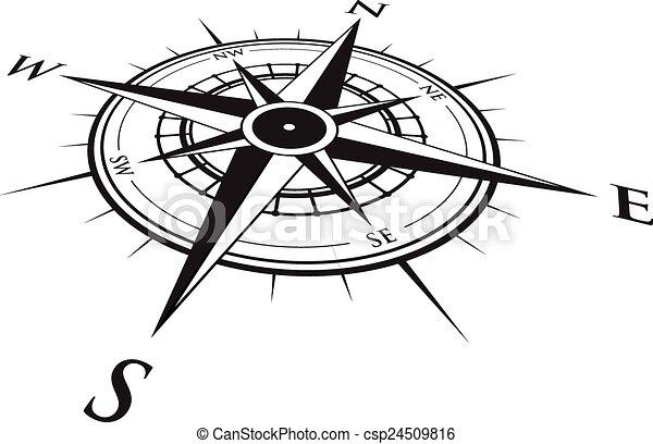 fond, compas - csp24509816