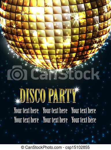 fond, disco, fête - csp15102855