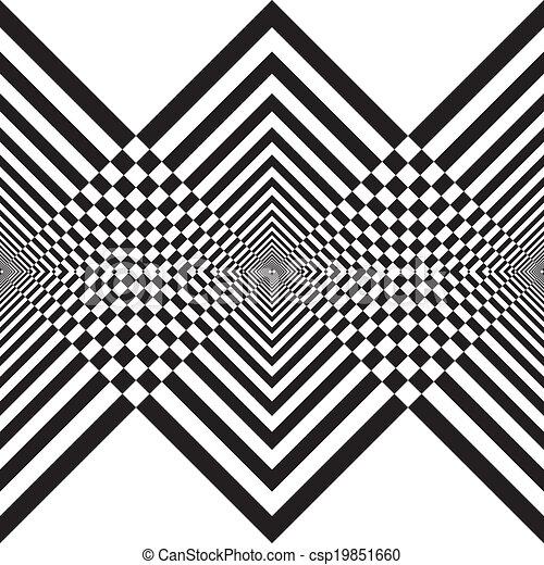 fond, double, résumé, noir, perspective, transparence, diamants, descendre, structure, hypnotical - csp19851660