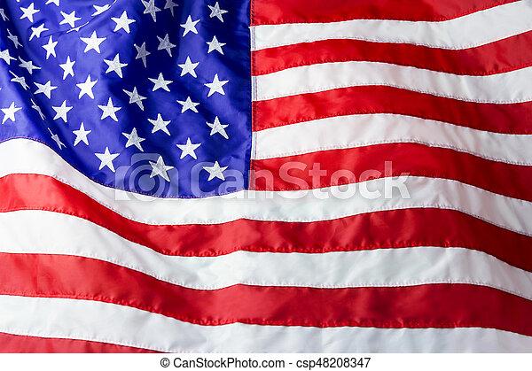fond, drapeau, américain - csp48208347