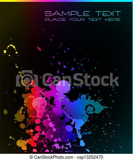 fond, gouttes, grunge, artistique, liquide - csp13252470