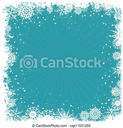 fond, grunge, flocon de neige - csp11531255