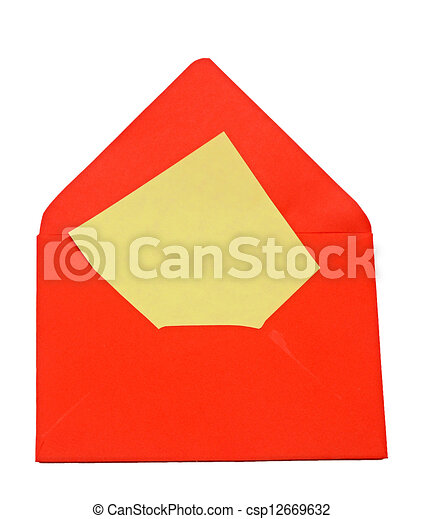 fond, lettre, enveloppe, vide, blanc - csp12669632
