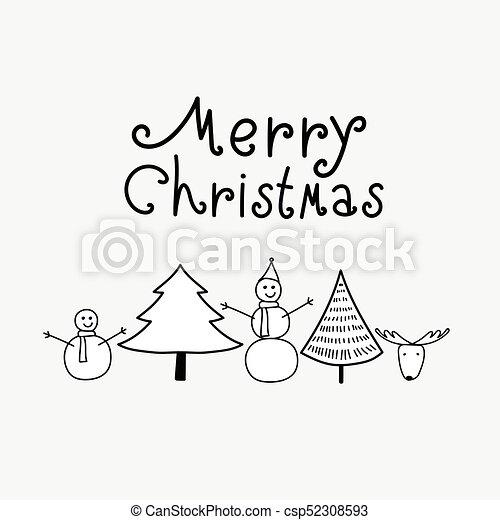 Fond Neige Arbre Deer Noir Joyeux Noël Blanc Montagne Homme