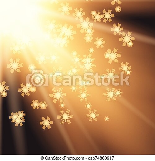 fond, noël, flocons neige - csp74860917