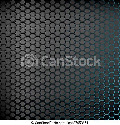 fond, résumé, backlight., bleu sombre - csp37653681