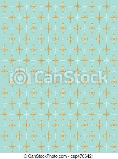 fond, retro, étoiles - csp4706421