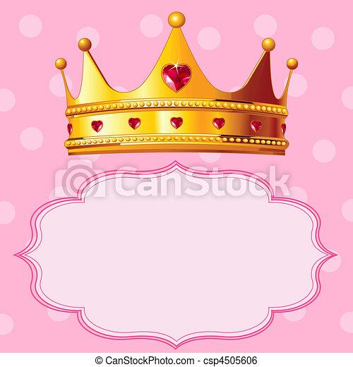 fond, rose, couronne, princesse - csp4505606