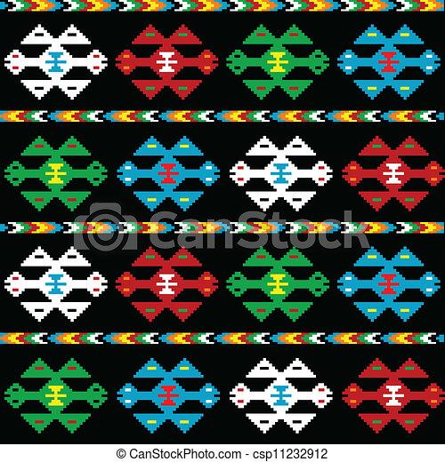 fond, texture, ethnique - csp11232912