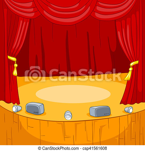 Fond th tre dessin anim stage rideaux th tre - Dessin de theatre ...