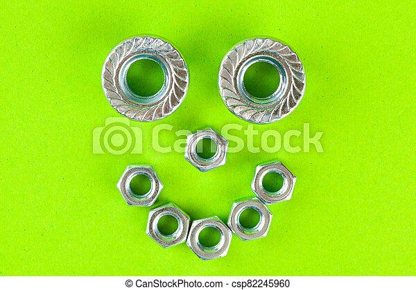 fond, vert, haut fin, tools., fou - csp82245960