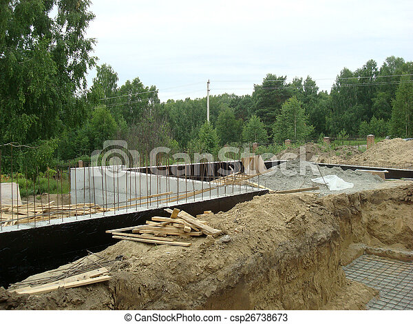 fondation, maison - csp26738673