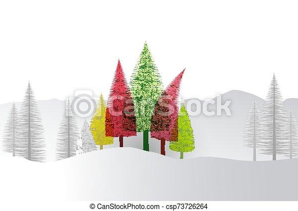 fondo, albero, naturale, natale - csp73726264