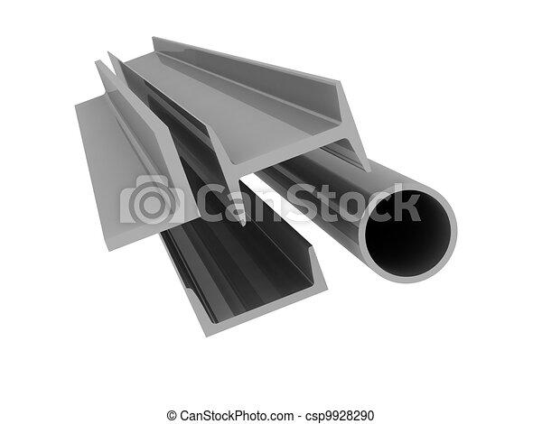 fondo, -, alto, alluminio, profili, tecnologia - csp9928290
