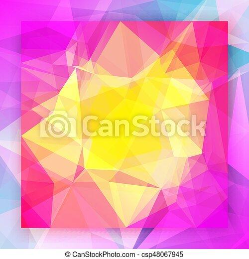 fondo., astratto, quadrato, triangolo - csp48067945