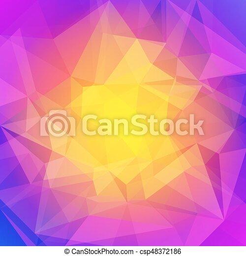 fondo., astratto, quadrato, triangolo - csp48372186
