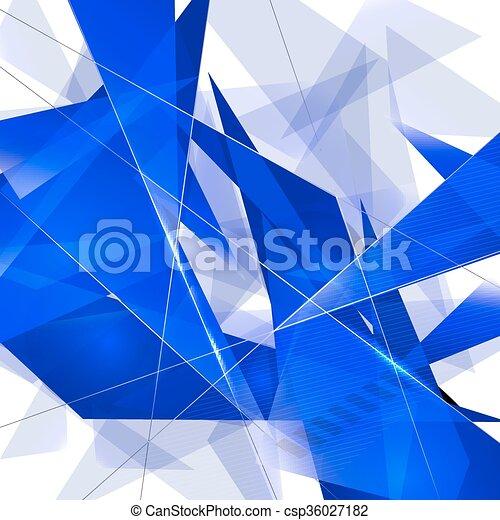 fondo., astratto, triangolo - csp36027182