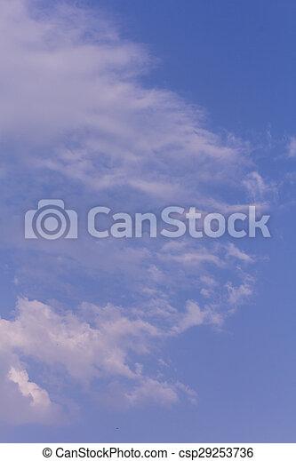 Nubes con cielo azul, textura y fondo - csp29253736